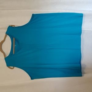 Lands' End turquoise tank size 3x